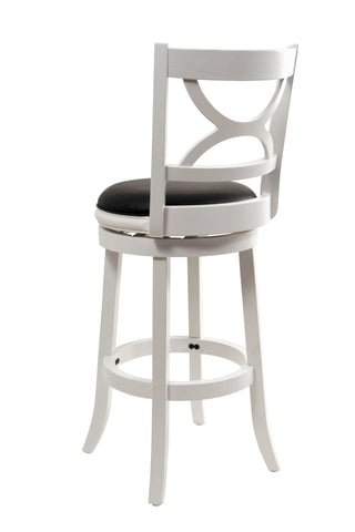 Boraam 29Inch Florence Swivel Stool Distressed White 43729