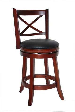Boraam 24Inch Georgia Swivel Stool Cherry 49624