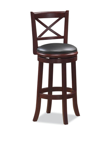 Boraam 29Inch Georgia Swivel Stool Cherry 49629