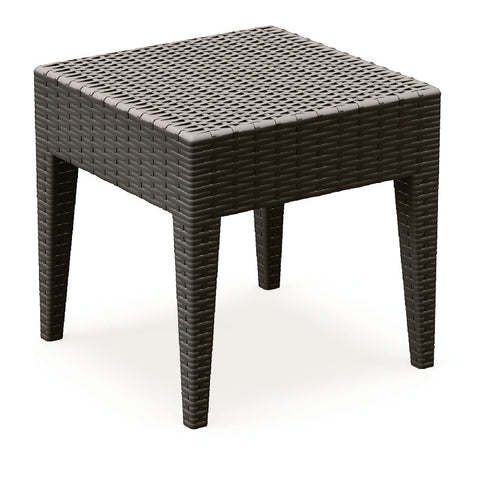 Compamia Miami Square Resin Side Table Brown ISP858-BR