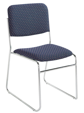 Diamond Navy on Chrome 8600 Signature Fabric Padded Stack Chairs 8664