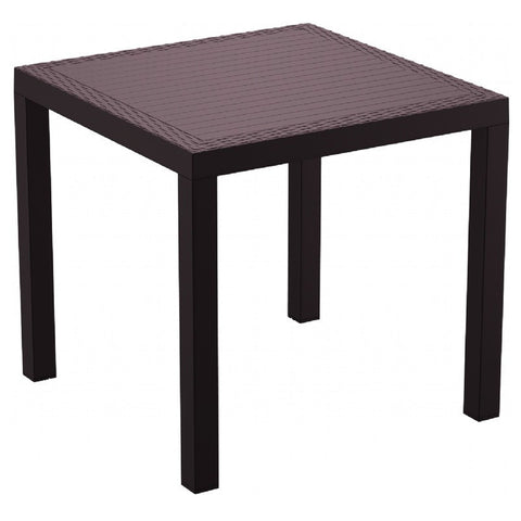 Compamia Orlando Resin Wickerlook Square Dining Table Brown 31 inch ISP875-BR