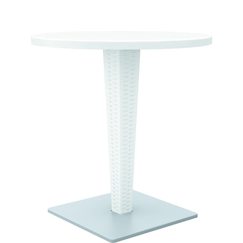 Compamia Riva Werzalit Top Round Dining Table White 27.5 inch ISP882-WH