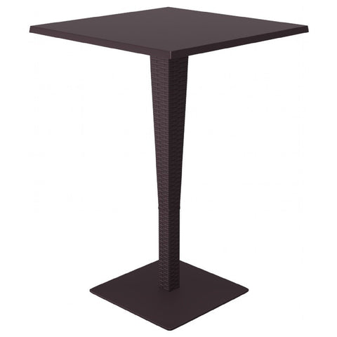 Compamia Riva Werzalit Top Square Bar Height Table Brown 27.5 inch ISP888-BR
