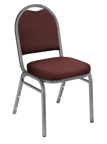 Rich Maroon Fabric on Silvervein Frame 9250 Padded Stack Chairs 9258-SV
