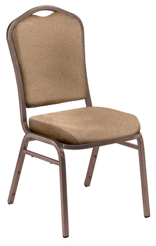 Beige Fabric on Coppervein Frame 9350 Silhouette Fabric Padded Stack Chairs 9351-CV