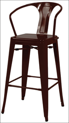 Metropolis Metal Counter Stool, Black