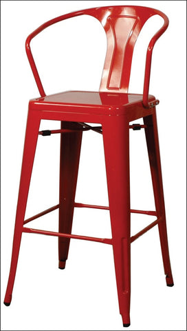 Metropolis Metal Counter Stool, Red