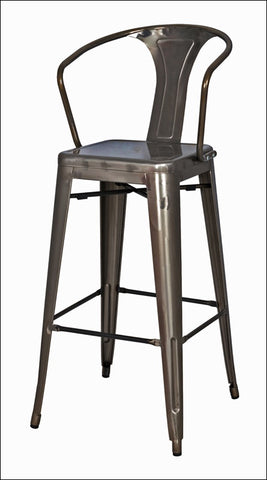 Metropolis Metal Bar Stool, Gunmetal