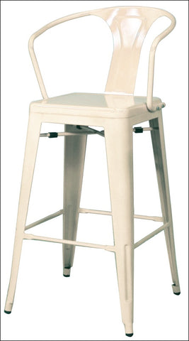 Metropolis Metal Bar Stool, White
