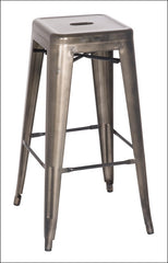 Metropolis Metal Backless Bar Stool, Gunmetal - YourBarStoolStore + Chairs, Tables and Outdoor