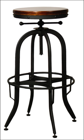 Industrial Vintage Bar Stool, Black
