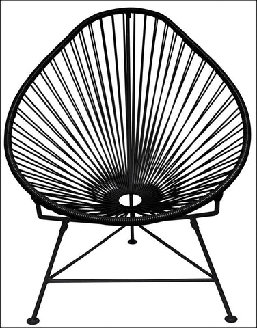 Innit Acapulco Chair Black Weave On Black Frame