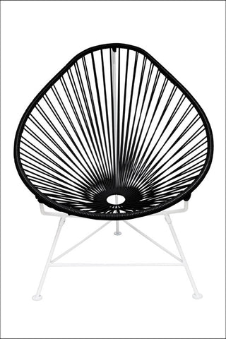 Innit Acapulco Chair Black Weave On White Frame