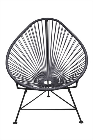 Innit Acapulco Chair Grey Weave On Black Frame