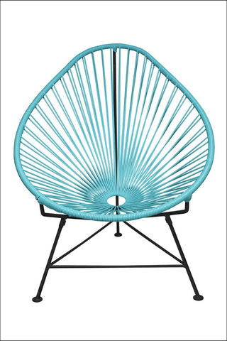 Innit Acapulco Chair Blue Weave On Black Frame