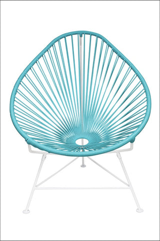 Innit Baby Acapulco Chair White Frame With Blue Weave