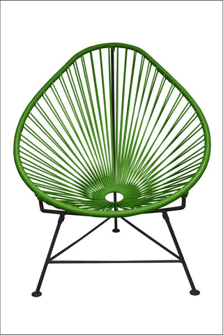 Innit Baby Acapulco Chair Cactus Weave On Black Frame