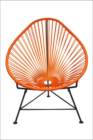 Innit Acapulco Chair Orange Weave On Black Frame