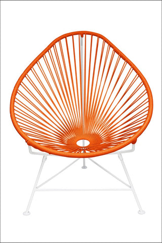 Innit Baby Acapulco Chair White Frame With Orange Weave