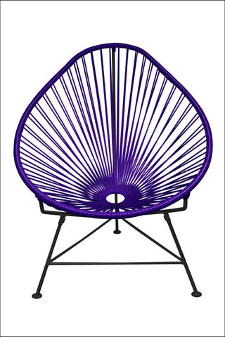 Innit Baby Acapulco Chair Purple Weave On Black Frame