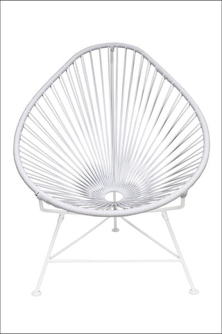 Innit Baby Acapulco Chair White Frame With White Weave
