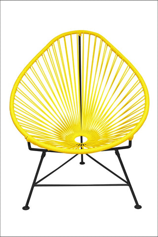 Innit Acapulco Chair Yellow Weave On Black Frame