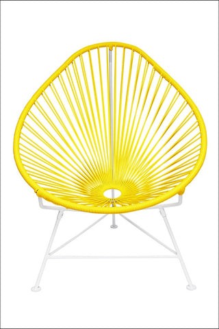 Innit Baby Acapulco Chair White Frame With Yellow Weave
