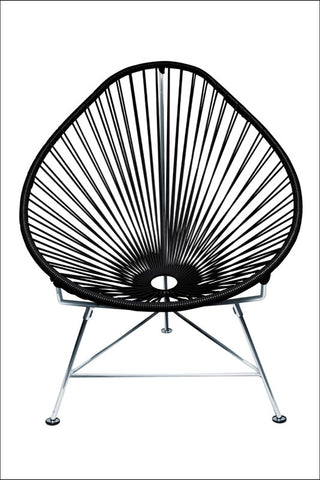 Innit Baby Acapulco Chair Chrome Frame With Black Weave