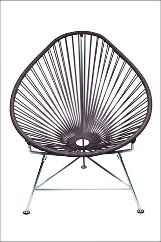 Innit Baby Acapulco Chair Chrome Frame With Grey Weave