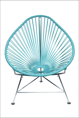 Innit Baby Acapulco Chair Chrome Frame With Blue Weave