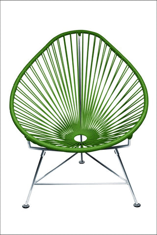 Innit Baby Acapulco Chair Chrome Frame With Cactus Weave