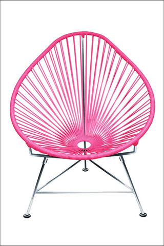 Innit Baby Acapulco Chair Chrome Frame With Pink Weave