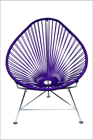 Innit Acapulco Chair Chrome Frame With Purple Weave