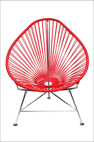 Innit Acapulco Chair Chrome Frame With Red Weave