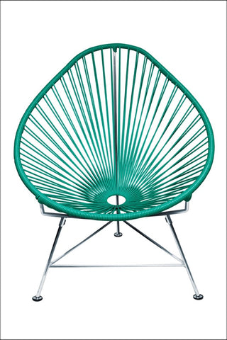Innit Baby Acapulco Chair Chrome Frame With Turquoise Weave