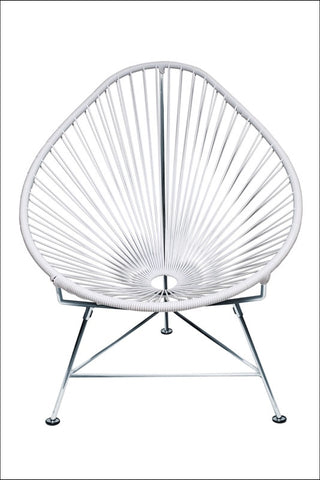 Innit Acapulco Chair Chrome Frame With White Weave