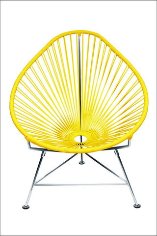 Innit Baby Acapulco Chair Chrome Frame With Yellow Weave