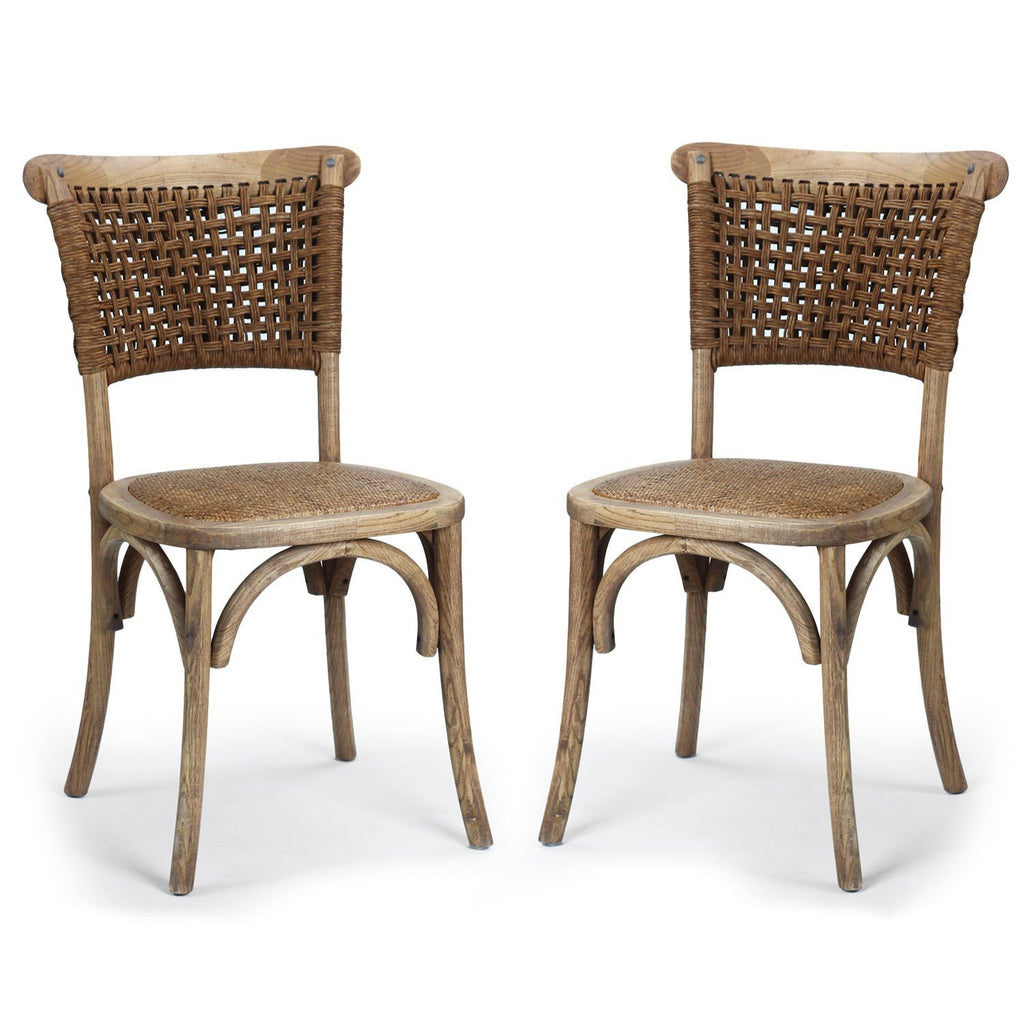 Vintage Style Dining Chairs: Residential Elm Wood Vintage-Style Dining Chair