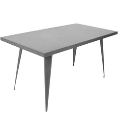 60x32 Austin Dining Table - Matte Grey