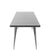 60x32 Austin Dining Table - Brushed Silver