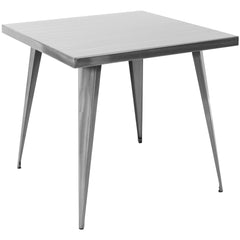 32x32 Austin Dining Table - Brushed Silver