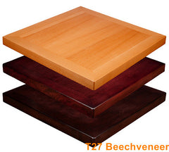 Commercial Tables T27 Beechveneer - YourBarStoolStore + Chairs, Tables and Outdoor  - 1