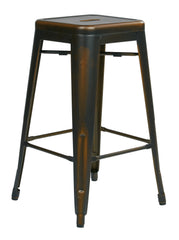 "Tolix Bristow 26"" Antique Metal Barstools, Antique Copper, 2-Pack - YourBarStoolStore + Chairs, Tables and Outdoor"