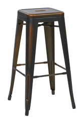 "Tolix Bristow 30"" Antique Metal Barstool, Antique Copper Finish, 4 Pack - YourBarStoolStore + Chairs, Tables and Outdoor"