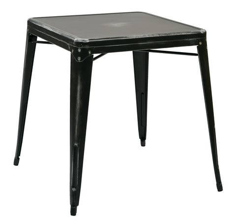 Tolix Bristow Antique Metal Table in Antique Black  (KD)