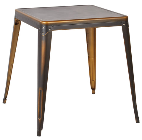 Tolix Bristow Antique Metal Table in Antique Copper (KD)