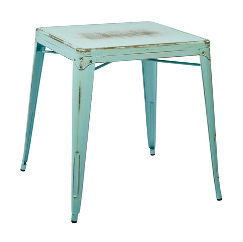 Tolix Bristow Antique Metal Table in Antique Sky Blue(KD)