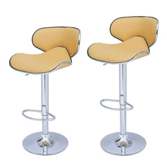 Bareneed Warm Yellow Modern Bar Stools (Set of two) - YourBarStoolStore + Chairs, Tables and Outdoor  - 1