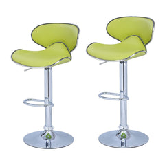 Bareneed Lime Green Modern Bar Stools (Set of two) - YourBarStoolStore + Chairs, Tables and Outdoor  - 1